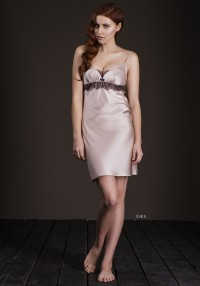 silk nightdress with lace