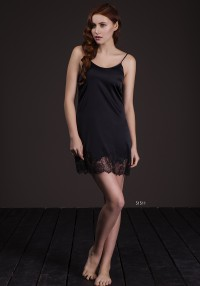 silk shirt with lace black