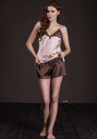 silk shorts with a shirt