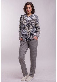 print tropic suit