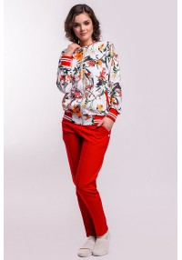 Sport suit chic print flowers