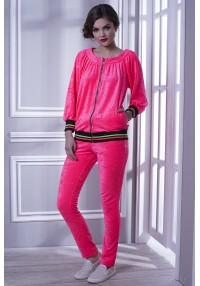 pink velor suit