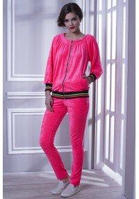 костюм велюровый розовый