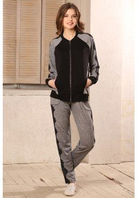 sport suit chic with lace