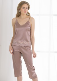 silk set breeches and top