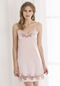 silk nightgown with lace