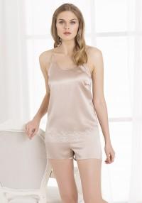 silk set shorts and top