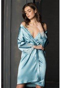 шелковый халат халат